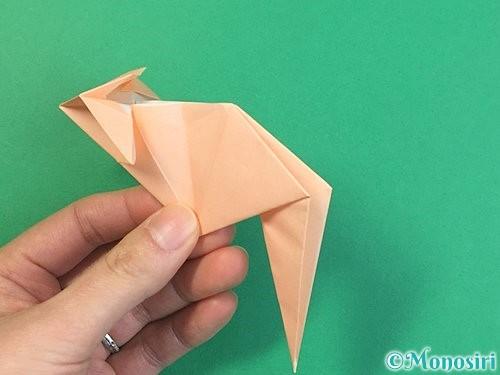 折り紙で立体的な猫の折り方手順57
