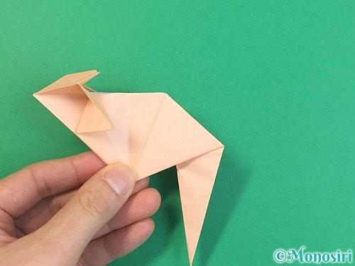 折り紙で立体的な猫の折り方手順58
