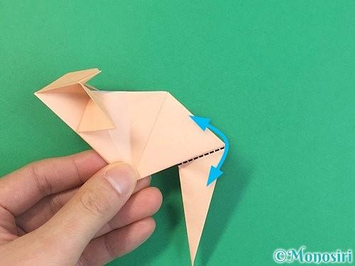 折り紙で立体的な猫の折り方手順59