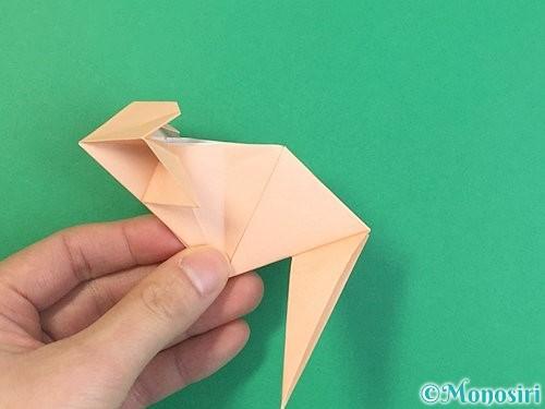 折り紙で立体的な猫の折り方手順60