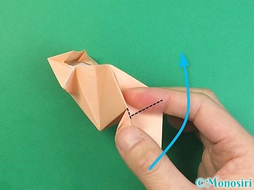 折り紙で立体的な猫の折り方手順61
