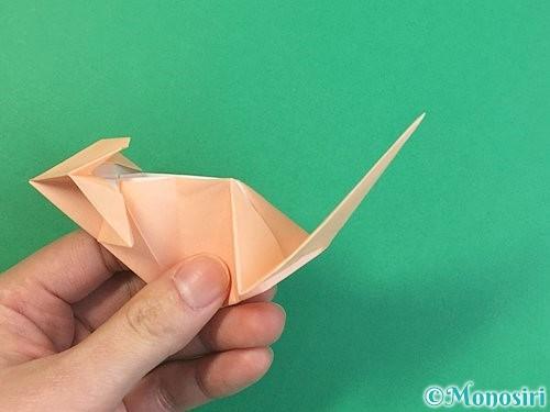 折り紙で立体的な猫の折り方手順62