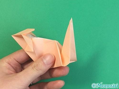 折り紙で立体的な猫の折り方手順63