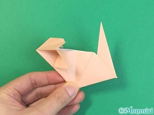 折り紙で立体的な猫の折り方手順64