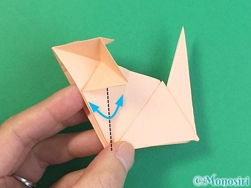 折り紙で立体的な猫の折り方手順65