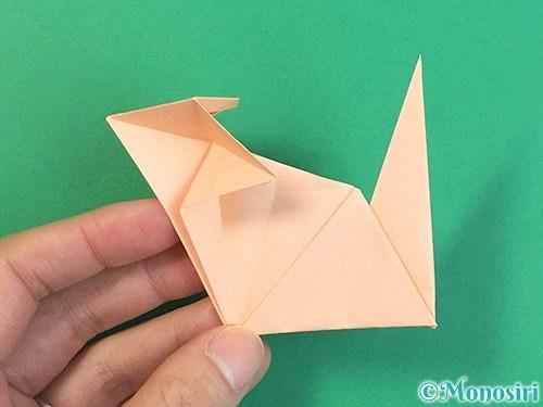 折り紙で立体的な猫の折り方手順66