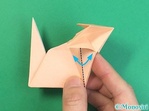 折り紙で立体的な猫の折り方手順67