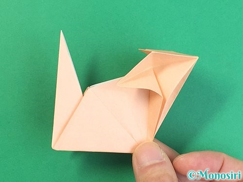 折り紙で立体的な猫の折り方手順68