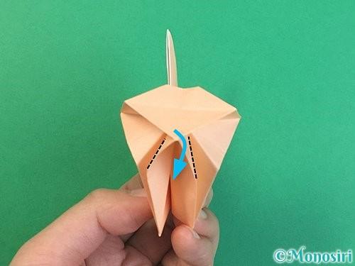 折り紙で立体的な猫の折り方手順70