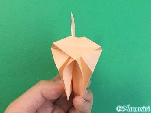 折り紙で立体的な猫の折り方手順69