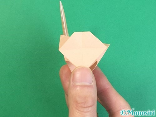 折り紙で立体的な猫の折り方手順71