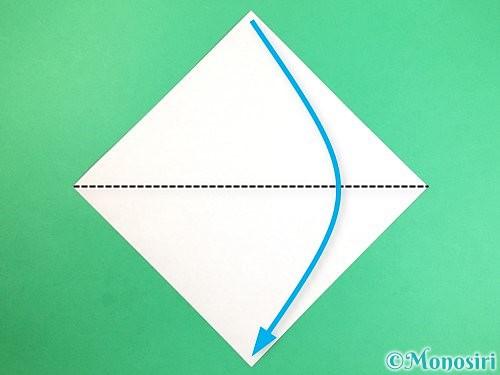 折り紙で犬の折り方手順1