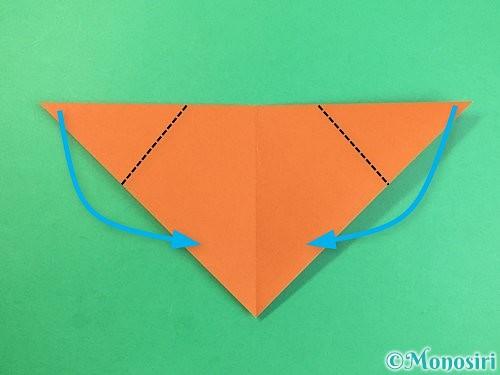 折り紙で犬の折り方手順5