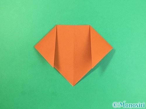 折り紙で犬の折り方手順6
