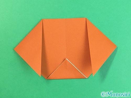折り紙で犬の折り方手順8