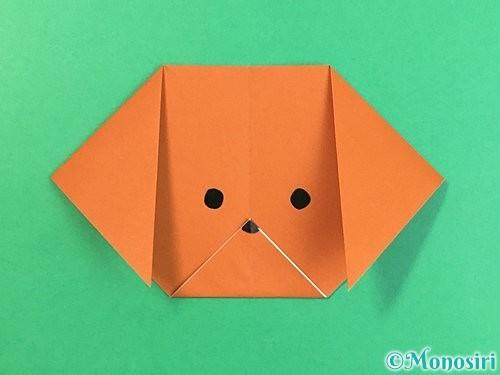 折り紙で犬の折り方手順9