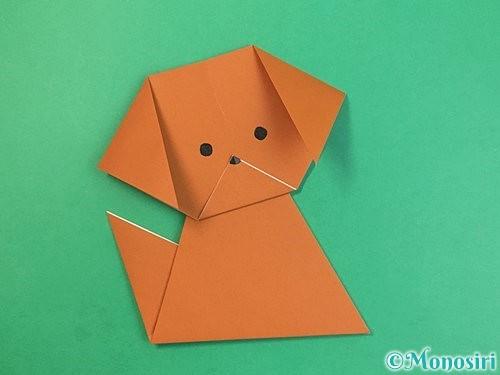 折り紙で犬の折り方手順15