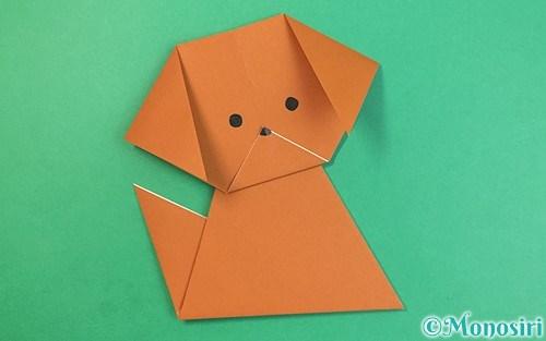 折り紙で折った犬