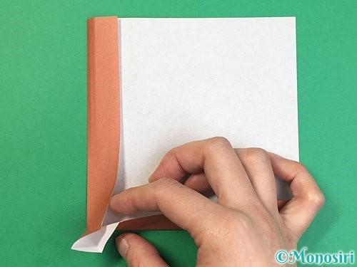 折り紙で立体的な犬の折り方手順11