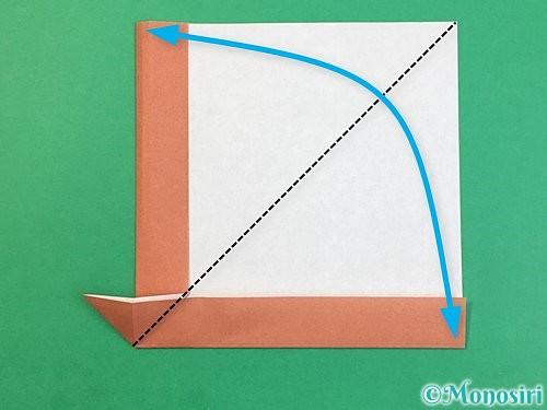 折り紙で立体的な犬の折り方手順14