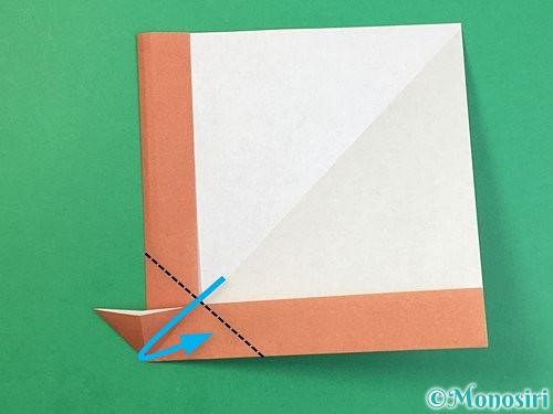 折り紙で立体的な犬の折り方手順16