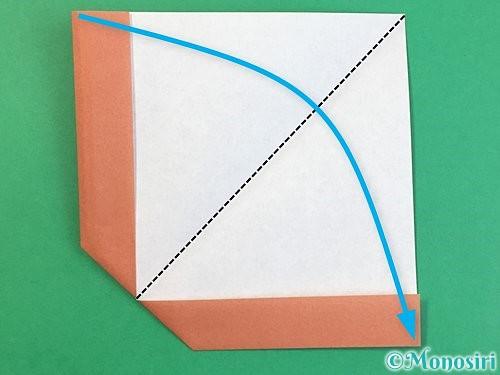 折り紙で立体的な犬の折り方手順18