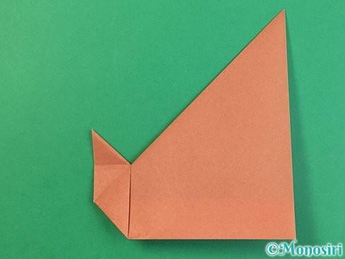 折り紙で立体的な犬の折り方手順19