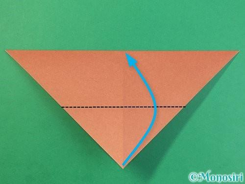 折り紙で立体的な犬の折り方手順24