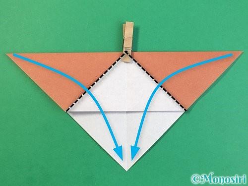 折り紙で立体的な犬の折り方手順26