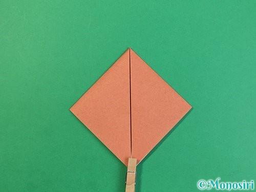 折り紙で立体的な犬の折り方手順27