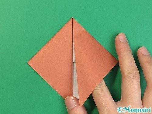 折り紙で立体的な犬の折り方手順28
