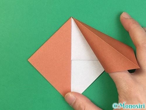 折り紙で立体的な犬の折り方手順29