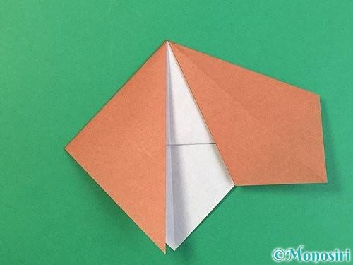 折り紙で立体的な犬の折り方手順30