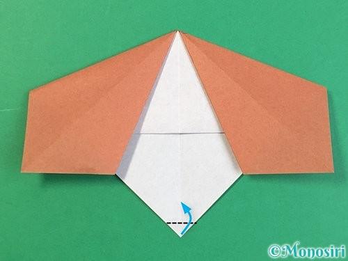 折り紙で立体的な犬の折り方手順32