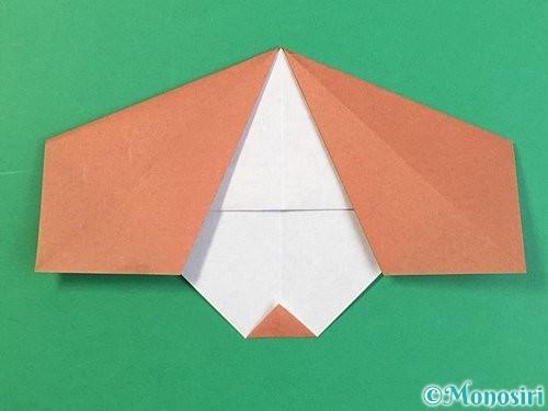 折り紙で立体的な犬の折り方手順33
