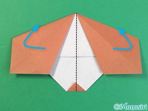 折り紙で立体的な犬の折り方手順34
