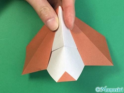 折り紙で立体的な犬の折り方手順35