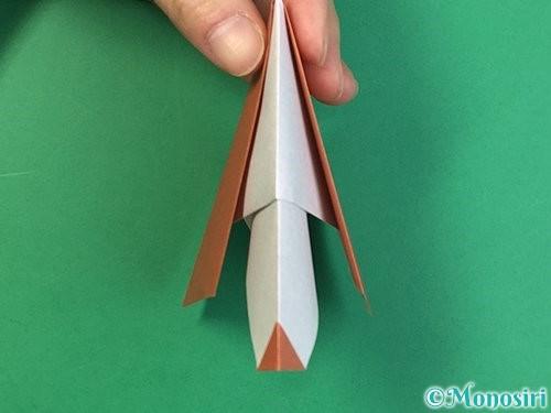 折り紙で立体的な犬の折り方手順36