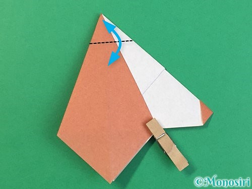 折り紙で立体的な犬の折り方手順38