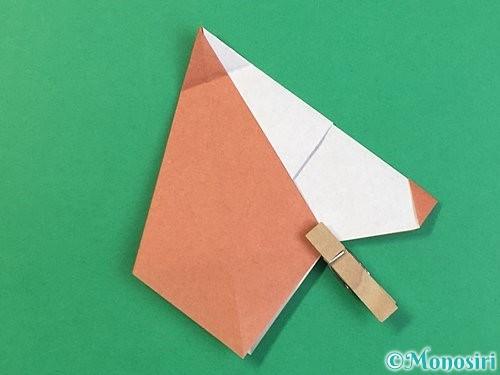 折り紙で立体的な犬の折り方手順39