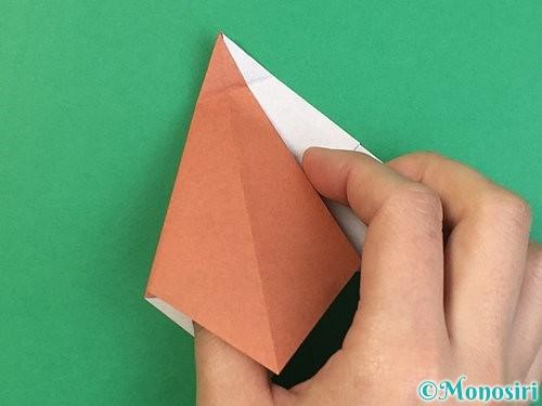折り紙で立体的な犬の折り方手順40