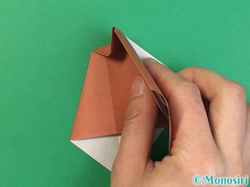 折り紙で立体的な犬の折り方手順43