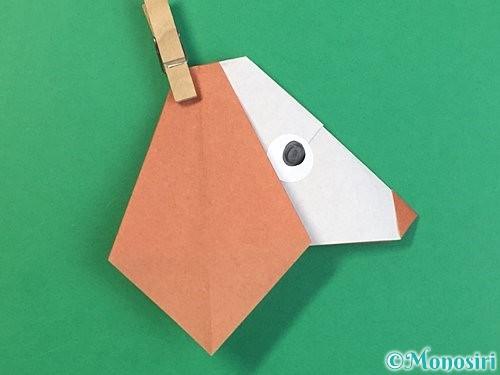 折り紙で立体的な犬の折り方手順46