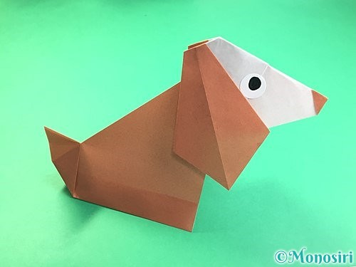 折り紙で立体的な犬の折り方手順49