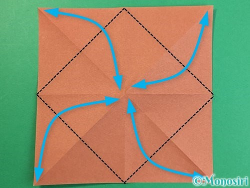 折り紙で立体的な犬の折り方手順6
