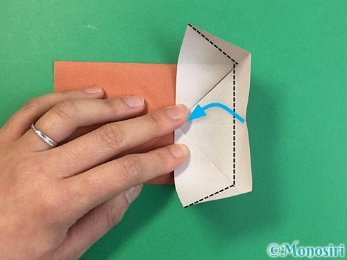 折り紙で立体的な犬の折り方手順15