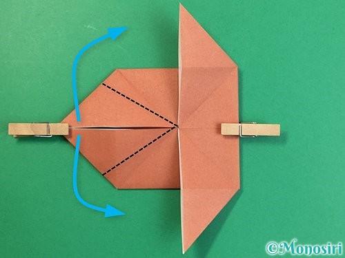折り紙で立体的な犬の折り方手順20