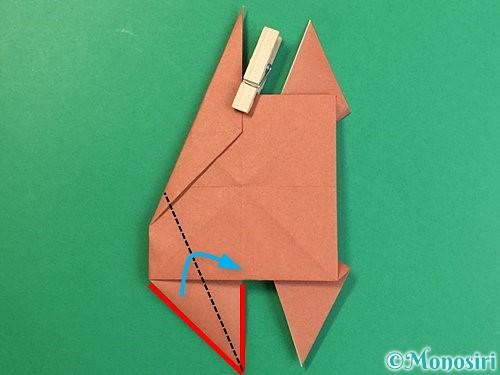 折り紙で立体的な犬の折り方手順25