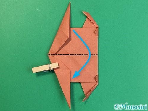 折り紙で立体的な犬の折り方手順31