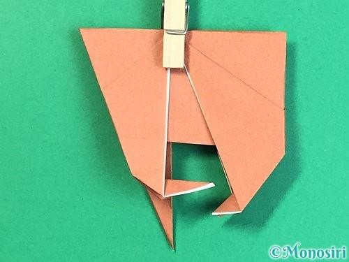 折り紙で立体的な犬の折り方手順37